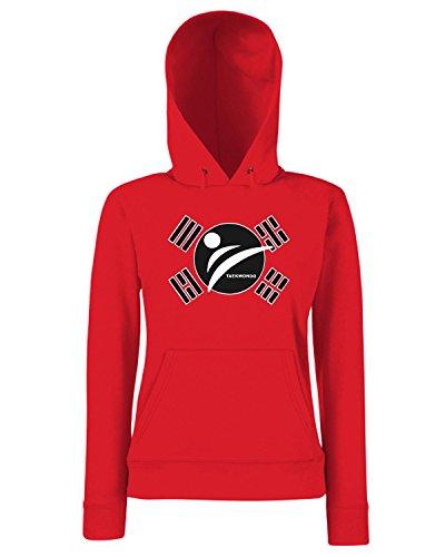 T-Shirtshock - Sweats a capuche Femme TAM0176 taekwondo tshirt Rouge
