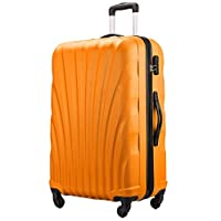 "Flymax 24"" Medium Suitcase Lightweight Luggage 4 Wheel Spinner Travel Case Trolley ABS Hold Check in"