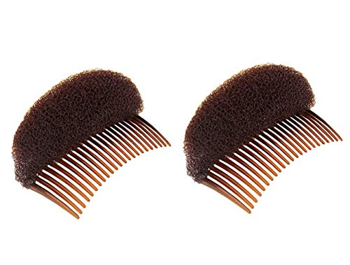2 peines pelo inserción esponjosa hacer moños moños