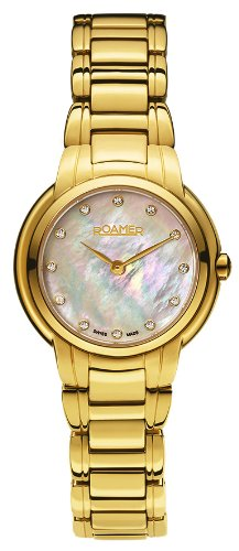 Roamer Dreamline Grande Classe Women's Quartz Watch with Mother of Pearl Dial Analogue Display and Gold Stainless Steel Bracelet 652856 48 89 60