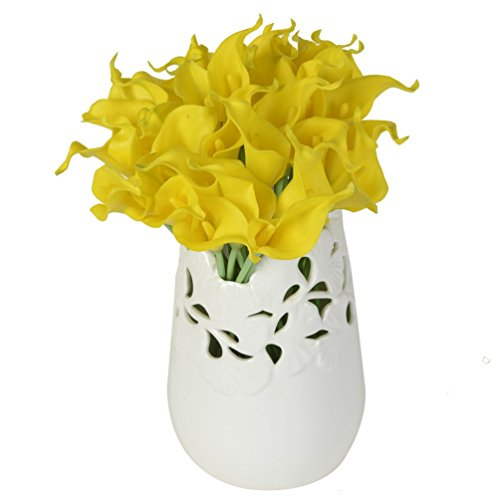 10 PC / sistema tacto verdadero artificial Flor de la cala artificial...