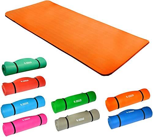 Hansson.Sports NBR Fitness Yoga Pilates Gymnastikmatte 183x80x1,5cm (orange)