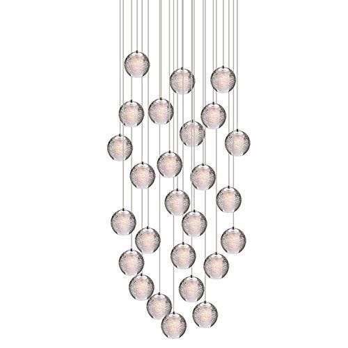 HU Pendelleuchte LED Moderne Pendellampe Kristall Hängeleuchte Höheverstellbar Kronleuchter geeignet für Wohzimmer Esstisch, Treppe, Schlafzimmer Deckenleuchte Hängelampe (Size : 26 Lights)