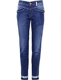 High Femmes Appelez-moi Pinstripe Slim Jeans Bleu