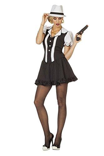 Damen Kostüm Mafia Gangster Lady Karneval Fasching Gr.38 (Mafia Gangster Halloween Kostüme)