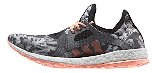 adidas Damen Pureboost X Laufschuhe, Violett Schwarz / Rot (Negbas / Brisol / Negbas)