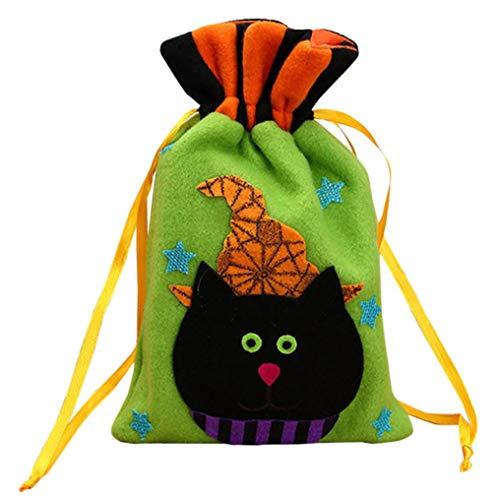 feiXIANG Halloween süßigkeiten Tasche Aufbewahrungstasche Tunnelzug lagerung Tasche