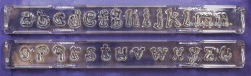 Kleinbuchstaben-Ausstecherlineal Clikstix Groovy von Windsor Cake Craft
