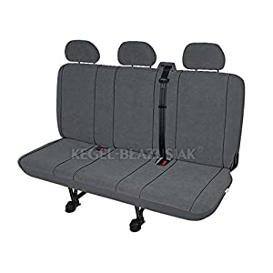 ZentimeX Z938622 Sitzbezüge Dreierbank Stoff grau