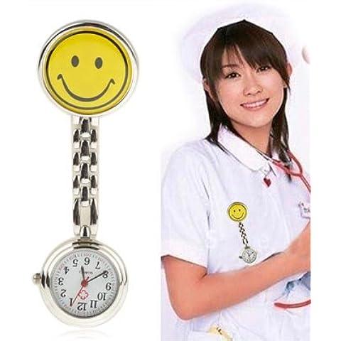 Cute Yellow Smiley Face Style Nurse Orologio