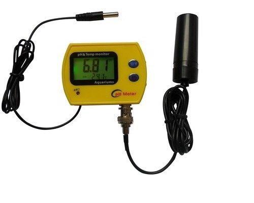 pH Messgerät mit Schwimmsonde und Temperaturanzeige pH Meter Aquarium Wassertest