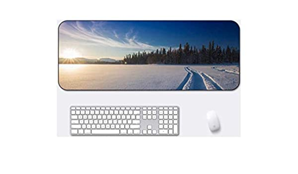 Suitable for Desktop Computer//Notebook,1000x500mmx5mm Snow Tire Tread Style Desk Pad Large Padded Waterproof Non-Slip Keyboard Pad Mouse Pad