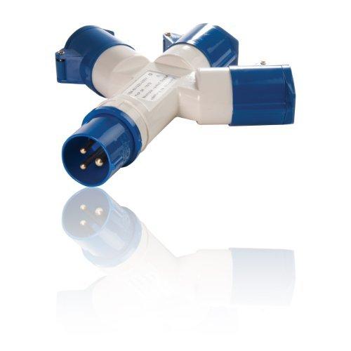 3 Way Splitter 16 A 3 pin Buchse für Zelt/Wohnmobil/Wohnwagen IEC 60309 P + N + E, 6 Hours 16 Way Splitter