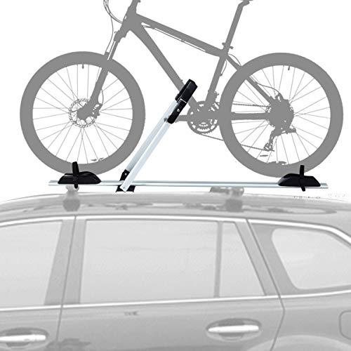 COSTWAY Portabicicletas de Techo con Protección Antirrobo Soporte para 1 Bicicleta de Aluminio Barra...