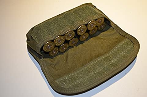 Acid Tactical® shotgun shell holder Tactical MOLLE Equipped Hunting pouch - green (Hunting Shotgun)