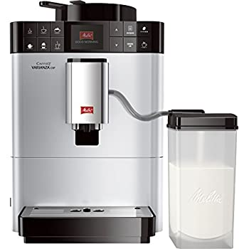 Melitta F57/0-101 silber Kaffeevollautomat Caffeo Varianza CSP (One Touch Funktion, LCD Farbdisplay, My Bean Select, Milchbehälter)