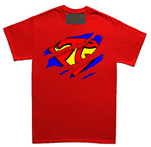 Renowned Super Pi inside under torn through Herren T Shirt Rot