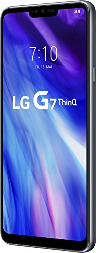 LG G7 ThinQ Smartphone (15,47 cm (6,1 Zoll) FullVision LCD Display, 64GB interner Speicher, 4GB RAM, einstellbare Notch, IP68, MIL-STD-810G, Android 8.0) Platinum Grau