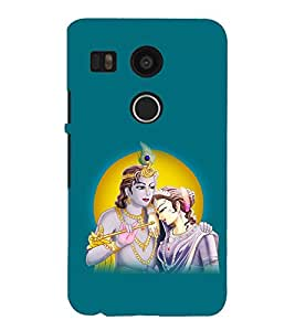 printtech Lord God Radha Krishna Back Case Cover for LG Google Nexus 5X / LG Google Nexus 5X (2nd Gen)