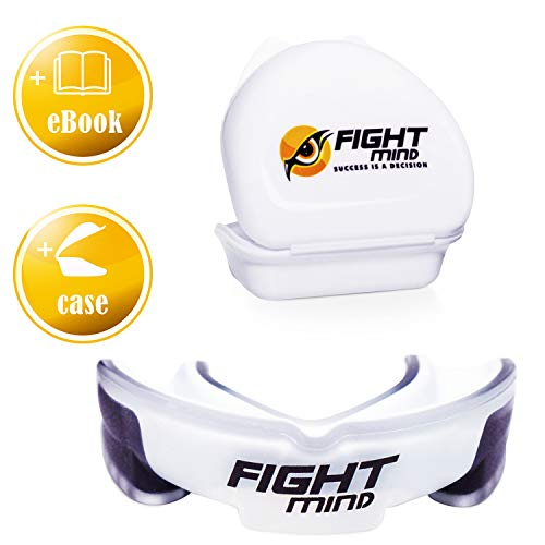 Fight Mind Defender Profi Zahnschutz - BPA freier Sport Mundschutz für Boxen, Kampfsport, American Football, MMA, Kickboxen, Muay Thai | + Exklusiver Ratgeber + Zufriedenheitsgarantie |