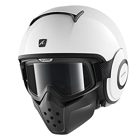 SHARK Casque Moto Raw Blank WHU, Blanc, Taille