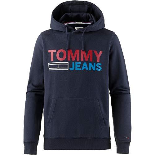 Tommy Jeans Felpa 002 Uomo large Corp Maniche Iris X Lunghe Hoodie black Blu Logo qq7pwtO