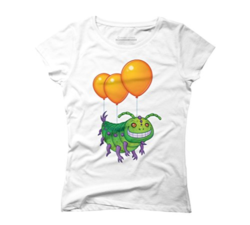 Impatient Caterpillar Women's Graphic T-Shirt - Design By Humans White