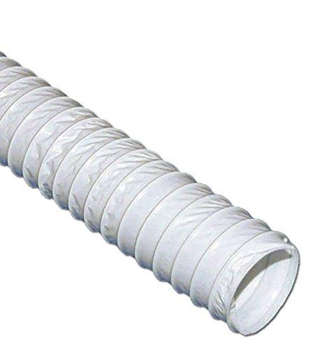 VIOKS Abluftschlauch 125mm / 3m PVC Flexibler Schlauch für Klimaanlage Klimagerät Abzugshaube Wäschetrockner Trockner