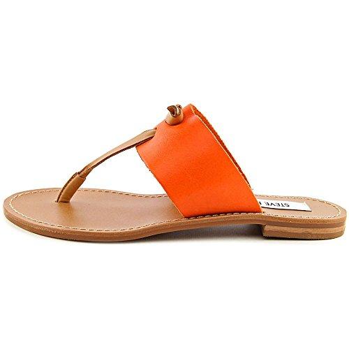 Steve Madden Olivia Cuir Tongs Orange Multi