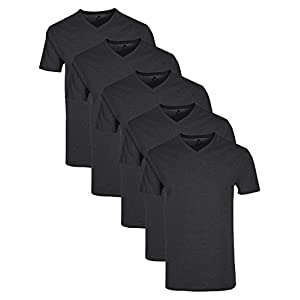 Lower East Herren T-Shirt mit V-Ausschnitt, 5er Pack