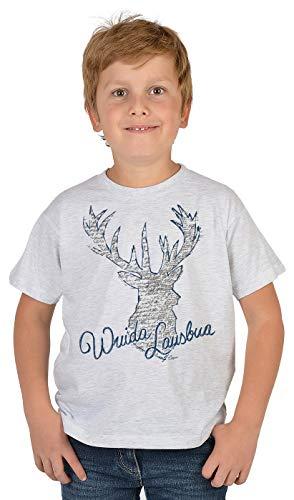 Trachten-Shirt für Jungs Kinder T-Shirt Wuida Lausbua Motiv Tracht passend zur Lederhose Buben Leiberl