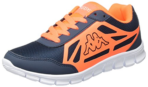 Kappa Square, Sneakers Basses Mixte Adulte Bleu (Navy/orange)