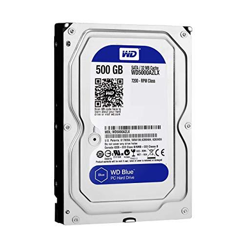 Western Digital WD Blue 500GB SATA 6GB/S HDD Internal 8, 9cm 3, 5Zoll Serial ATA 32MB Cache 7200 RPM ROHS Compliant Bulk - Western Digital 500 Gb Sata