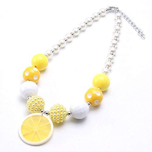 AISHIPING Stil Mädchen Perlen Halskette Mit Zitrone Anhänger Bubblegum Perlen Halskette Schmuck
