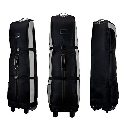 PGM Golf Travel Bag Cover Rädern---- Double Deck, dicker, wasserdicht Nylon, mit Boden, black-gray -