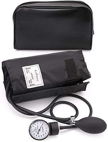 LotFancy Aneroid-Blutdruckmessgerät, Manuelle Blutdruckmessgerät, Blutdruckmanschette mit Reißverschlussetui für Erwachsene (ca. 25 cm-40 cm)