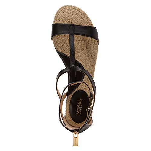 Michael Michael Kors Bria Flat Sandal Femmes Cuir Sandales Gladiateur Black