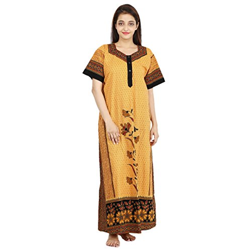WOMEN'S PREMIUM NIGHTY, SOFTEST P.C. FABRIC, S/M/L/XL/XXL FRONT OPEN. 100% GURANTEED- NO COLOUR FADING OR ANY SHRINKAGE PROBLEM  available at amazon for Rs.355