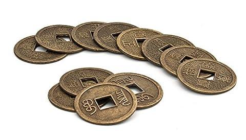 Chinesische Glücksmünzen 12er Set - Feng Shui Esoterik günstig kaufen online (12 Magische Münze)