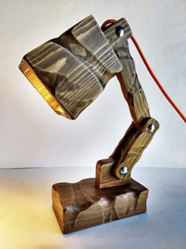 Lámpara flexo led escritorio madera reciclada palet