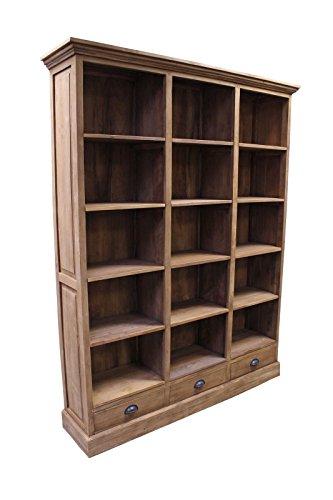 Teak-town TEAK Kontor Bücherregal SE36-3 Teakholz antik glatt geschliffen 210x165 cm Möbel