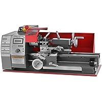 Cueffer Torno de Metal 7 x 12 Pulgadas/8 x 16 Pulgadas Mini Torno de Metal de Precisión 2500 RPM 600W/750W Mini Torno de Metal Torno de Trabajo de Metal Fresadora de Metal (600W 7X12 Pulgadas)