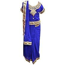 Los niños Ready Made exclusivo Niñas azul tela para Bollywood tema fiesta & boda tiendas Londres Reino Unido 1201