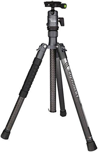 Rollei City Traveler - Super leichtes Reise Stativ aus Carbon, perfekt für DSLM Kameras, Smartphones, Actioncams und 360 Grad Kameras, Arca Swiss kompatibel, incl. Kugelkopf und Stativtasche - Titan