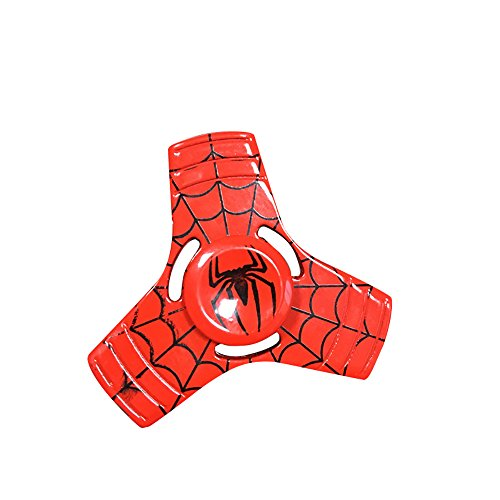 Image of Hand Fidget Spinner,Omiky® EDC Zinc Alloy Fidget Spinner Finger Groy Toy for SBDX ADD ADHD Anxiety Autism Suffers (Red Spider-man)
