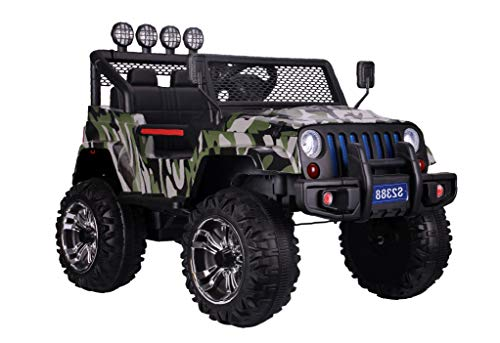 Ricco S2388 RED 4x4 Kids Ride On Car with Remote Control LED Lights and Music (CAMOUFLAGE)