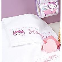 Kit para punto de cruz en toalla de mana, con diseño de Hello Kitty