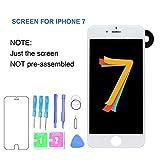 Ruesious LCD Display Touch - Screen Sostituzione Digitale Frame Assemblea Piena Set con Strumenti e Il Vetro dello Schermo Protettore per iPhone 7 4.7 (Bianco)