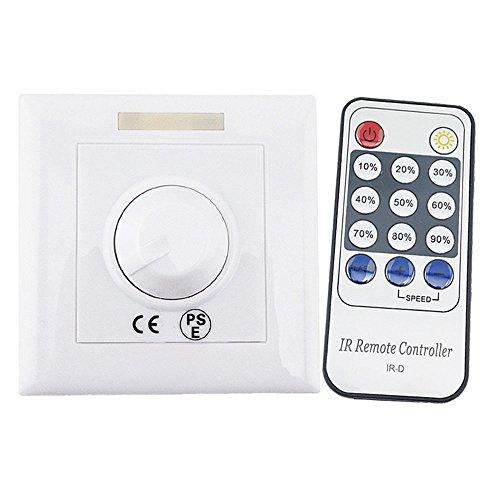 Luxvista LED SCR Triac-Dimmer AC220V-240V mit 14-Tastaturen Infrarote Fernbedienung Knopf LED Dimmschalter für Dimmabare Glühbirne/Lampe
