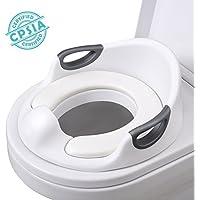 Siège de toilette pour tout-petits AiKido Entraîneur de toilette Sièges de chaise pour enfants avec poignées de coussin souples pour toilettes rondes ovales